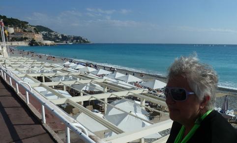 aan de Promenade des Anglais in Nice