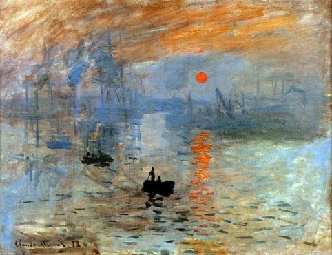 Impression,Soleil levant, Monet,1872