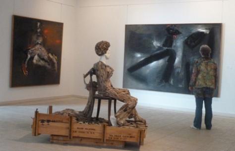 zalen met moderne kunstenaars