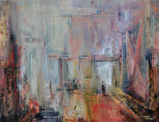 Room with a view, olieverfschilderij, 100 cm-130 cm
