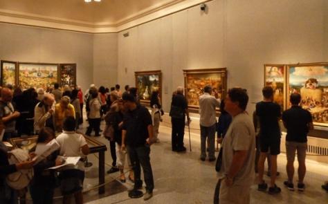 de zaal met El Bosco in het Prado bij mijn bezoek in september